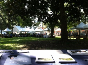 View from our table at MS Bookfest